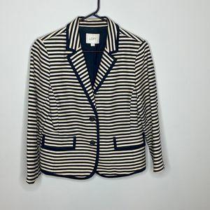 Loft striped blazer jacket size 12